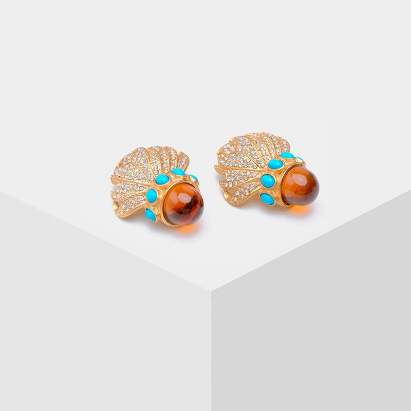 [해외]Fashion acrylic irregular clip earrings/Fashion acrylic irregular clip earrings