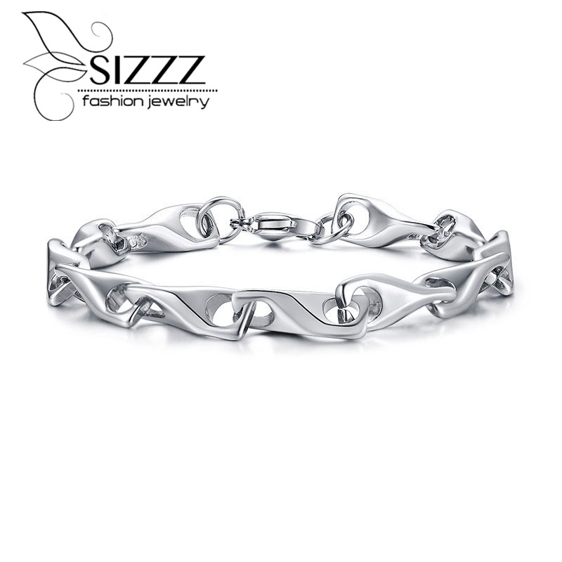 [해외]SIZZZ 신제품 단순한 성격 티타늄 강철은 남성용 뼈 수동 체인 팔찌 & 팔찌를 원합니다/SIZZZ New product listing simple personality titanium steel wish bone manual chain bracelet