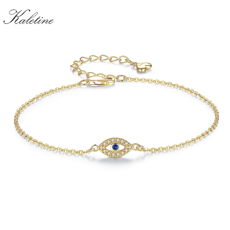 [해외]KALETINE 참 아이 팔찌 925 스털링 실버 팔찌 블루 악마의 눈 CZ 조정 가능한 남자 터키 쥬얼리 3 쿨러/KALETINE Charms Eye Bracelet 925 Sterling Silver Bracelets for Women Blue Evil Ey