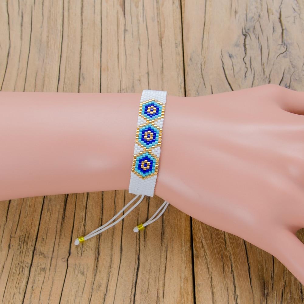 [해외]Shinus 10pcs/lot Miyuki Bracelet evil Eye Bracelets Etsyhandmade Woven Women Bracelet Beaded Puleras summer jewelry Bileklik/Shinus 10pcs/lot Miyu