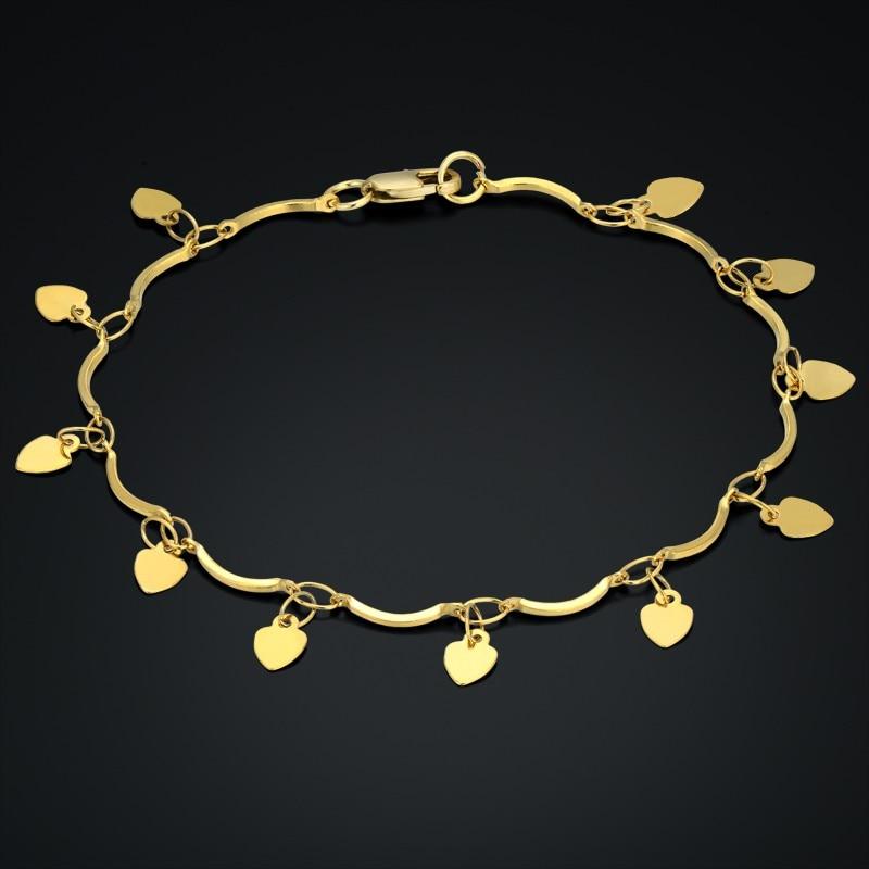 [해외]New Woman Bracelets Simple Gold Chain Heart Bracelets & Bangles Charm Bracelets For Women Vintage Bracelets/New Woman Bracelets Simple Gold Ch