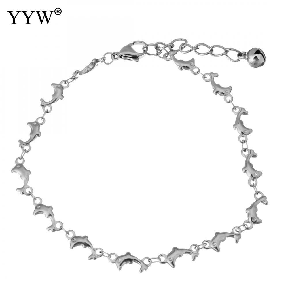 [해외]패션 스테인레스 스틸 팔찌 Bangles 원래 돌고래 구슬 매력 여성을팔찌 여성 힙합 파티 락 쥬얼리/Fashion Stainless Steel Bracelets Bangles Original Dolphin Beads Charms Bracelets for Wom