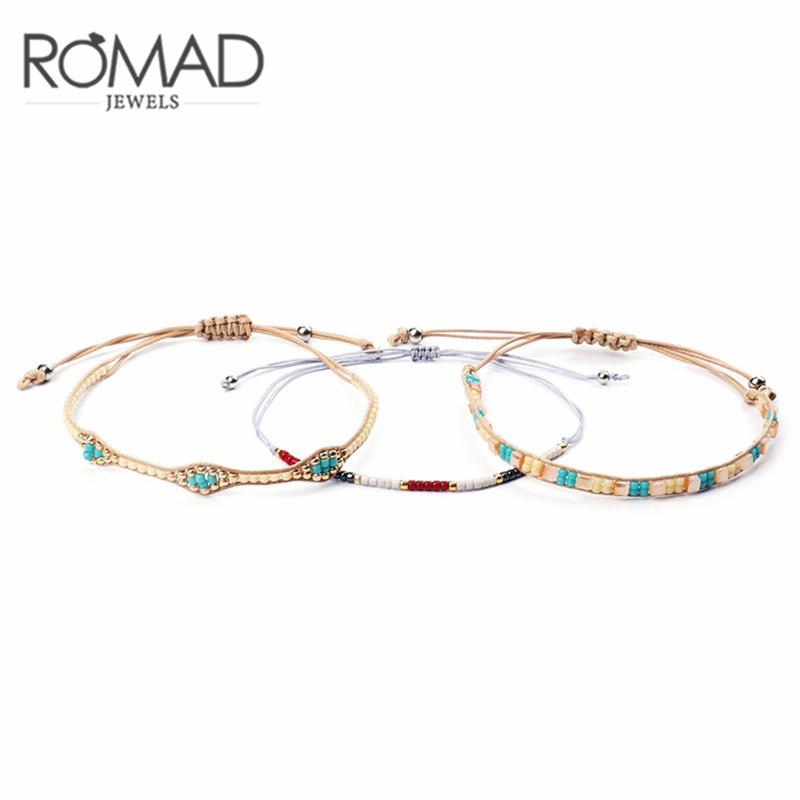 [해외]Romad Bohemia Beads Weave Rope Friendship Bracelets For Woman Men Cotton Charm Bracelet & Bangles Ethnic Jewelry Gifts/Romad Bohemia Beads Wea
