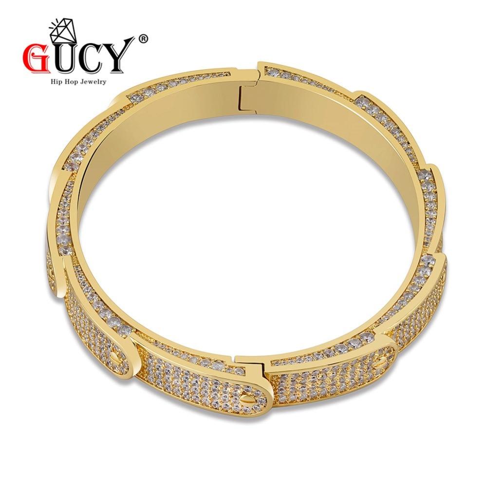 [해외]GUCY Hip Hop Fashion 7mm Bracelet Gold/Silver Plated Iced Out Micro Pave AAA CZ Stone Colorful Bracelet For Men Women/GUCY Hip Hop Fashion 7mm Bra