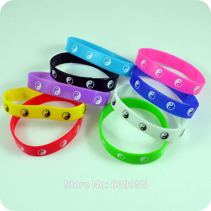 [해외]10x Tai Chi Yin Yang silicone bracelet bangle wristband fashion jewelry Part Gift/10x Tai Chi Yin Yang silicone bracelet bangle wristband fashion