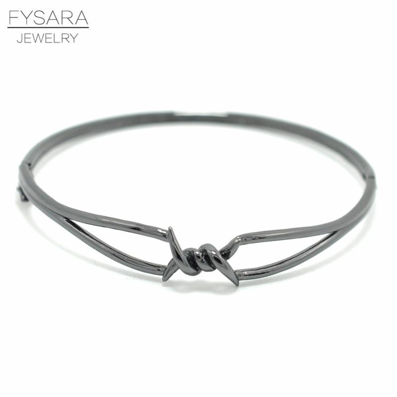 [해외]FYSARA Street X Bracelet For Men Women Charm Knot Thin Bangles & Bracelets Black Gold Punk Jewelry Twisted Buckle Bangles/FYSARA Street X Brac