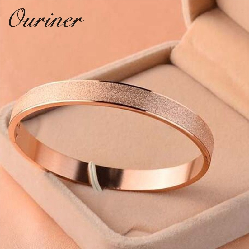 [해외]Fashion Jewelry Luxury Love Gold Bracelets & Bangles Grind Arenaceous Frosted Bracelets For Women Men Couple Cool Jewelry K0061/Fashion Jewelr