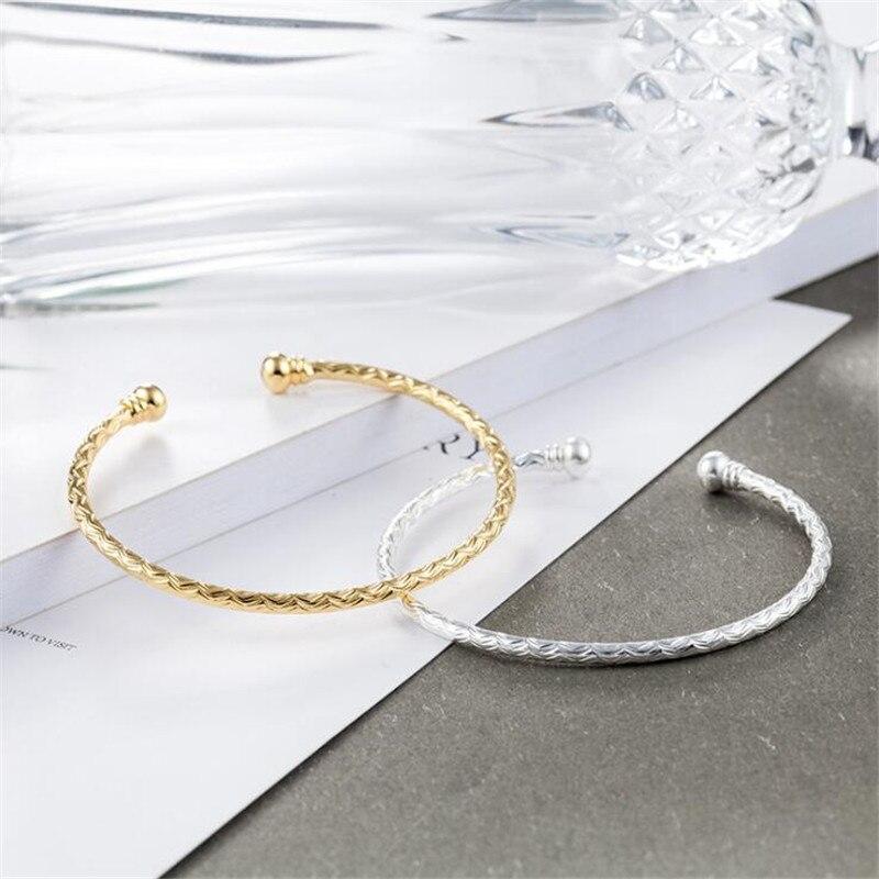[해외]New Simple Opening Adjustable Ladies Custom Fashion 925 Sterling Silver Jewelry Bracelets Personality Car Flower Bangles SB167/New Simple Opening