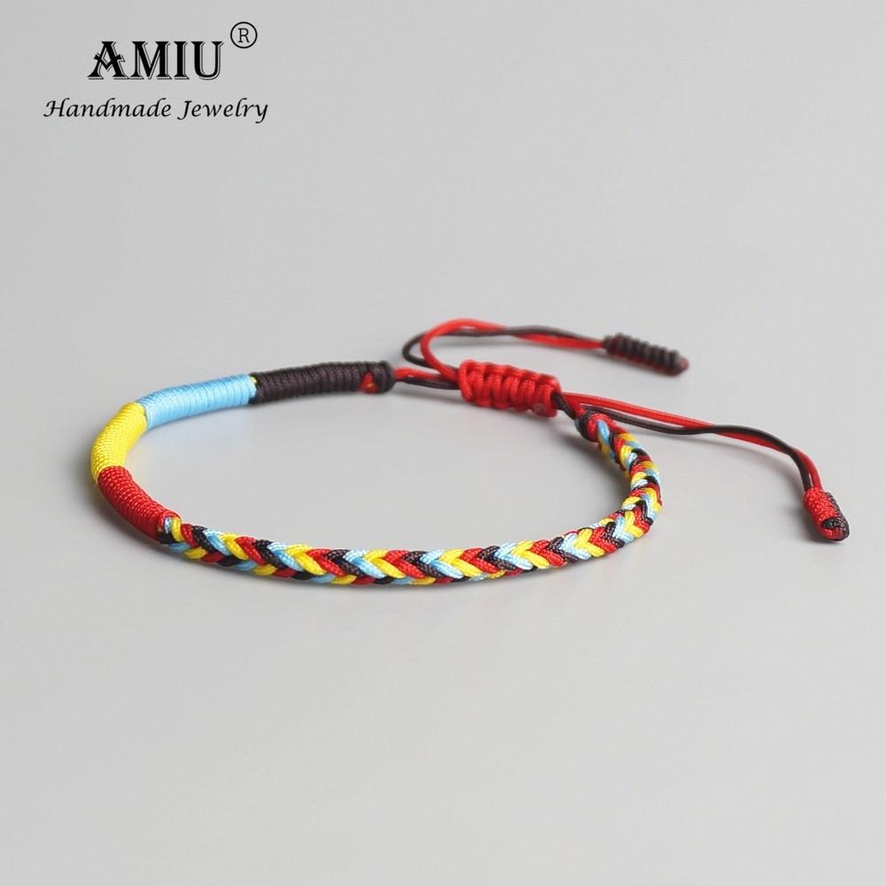 [해외]AMIU Tibetan Buddhist Tibetan Lucky Braided Bracelets & Bangles For Women Men Handmade Knots Green Rope Amulet Gift Bracelet/AMIU Tibetan Budd