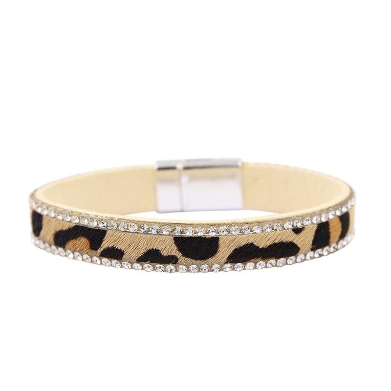 [해외]Leopard Bracelet For Women Vintage Rhinestone Charm Bracelets Bohemia Magnetic Clasp Wristband bijoux/Leopard Bracelet For Women Vintage Rhineston