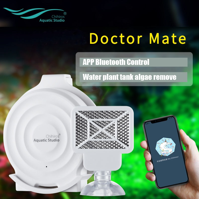 [해외]2019 New Chihiros twinstar Chihiros Doctor Mate Bluetooth Algae remove electronic inhibit green aquarium fish water plant tank/2019 New