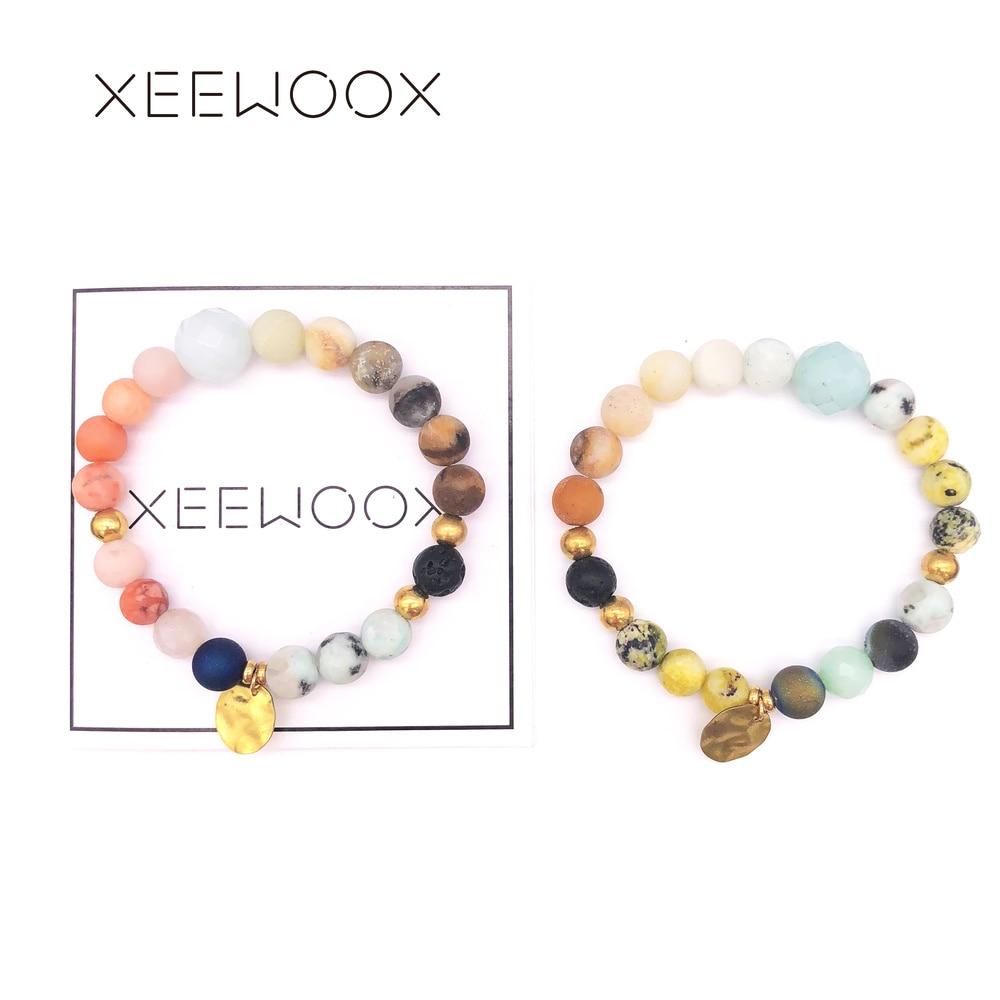 [해외]Natural Stone Bracelet For Women Couple Bead Bracelet Man Boho Gold Beads Bracelet Friendship Charm Gift 2018 New Custom/Natural Stone Bracelet Fo