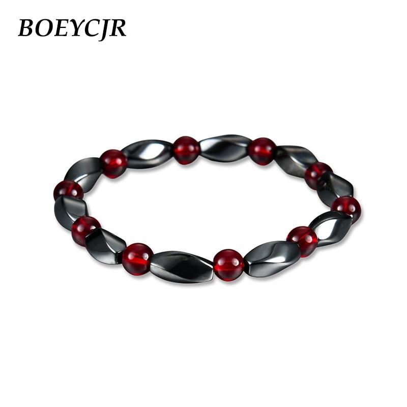[해외]BOEYCJR Black Magnet Stone Beads Bangles & Bracelets Fashion Jewelry Natural Stone Energy Bracelets for Women or Men 2019/BOEYCJR Black Magnet