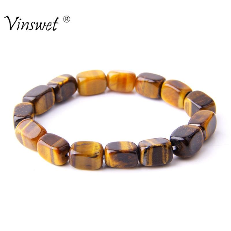 [해외] Tiger Eye Natural Stone Beads Bangles & Bracelets Handmade Jewelry Energy Bracelets for Women Men Jewelry 2019/ Tiger Eye Natural Stone Beads