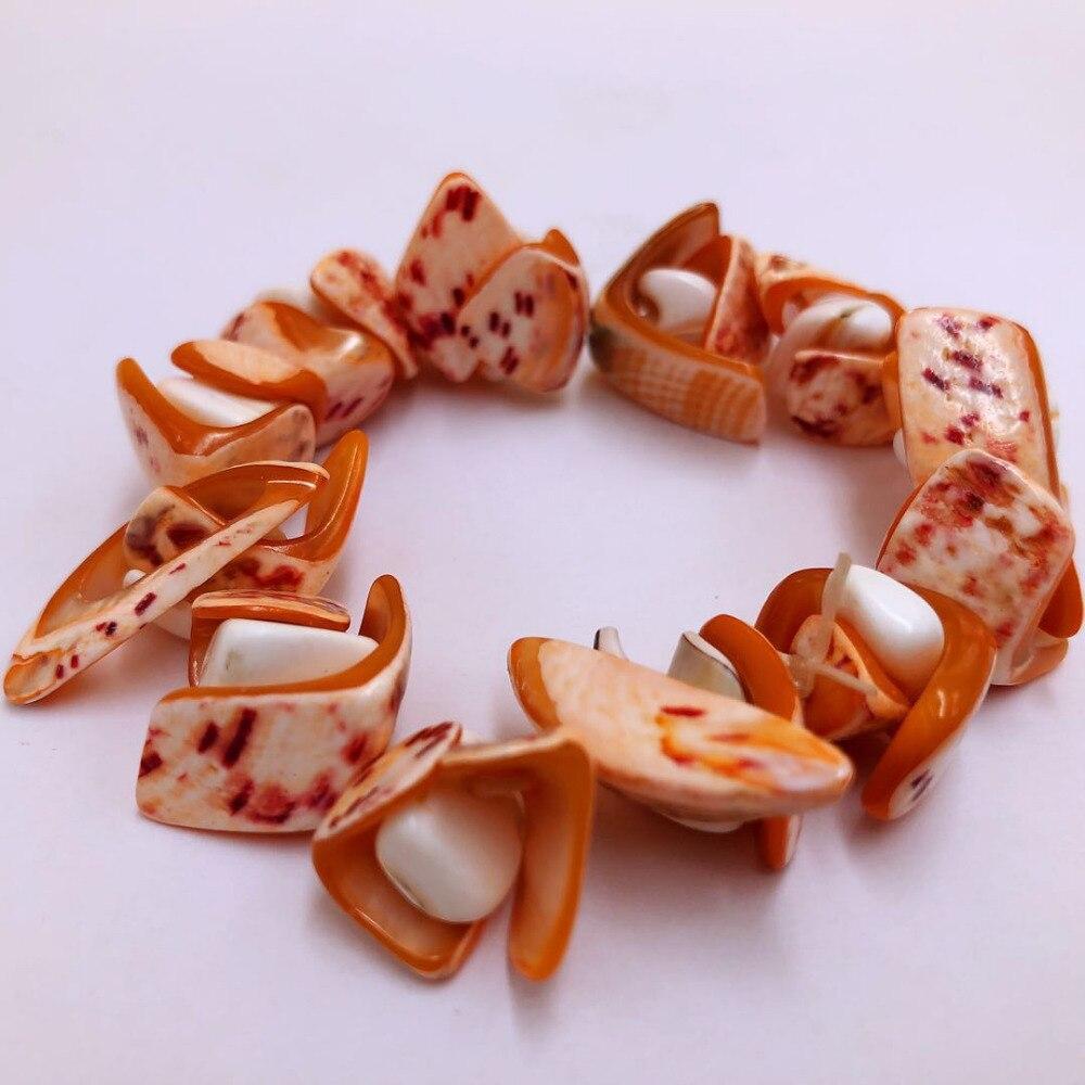 [해외]FGTORI Brown and White Crushed Shells Bracelet For Gifts/FGTORI Brown and White Crushed Shells Bracelet For Gifts