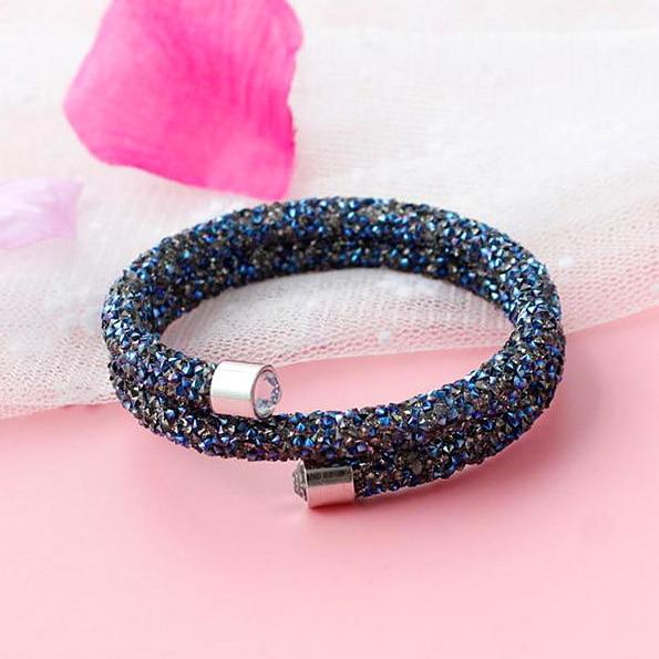 [해외]Exquisite Crystal Cuff Bangle Double Layer MadeAustrian Crystals For Women Pulseira Feminina Bride Wedding Jewelry/Exquisite Crystal Cuff Bangle D