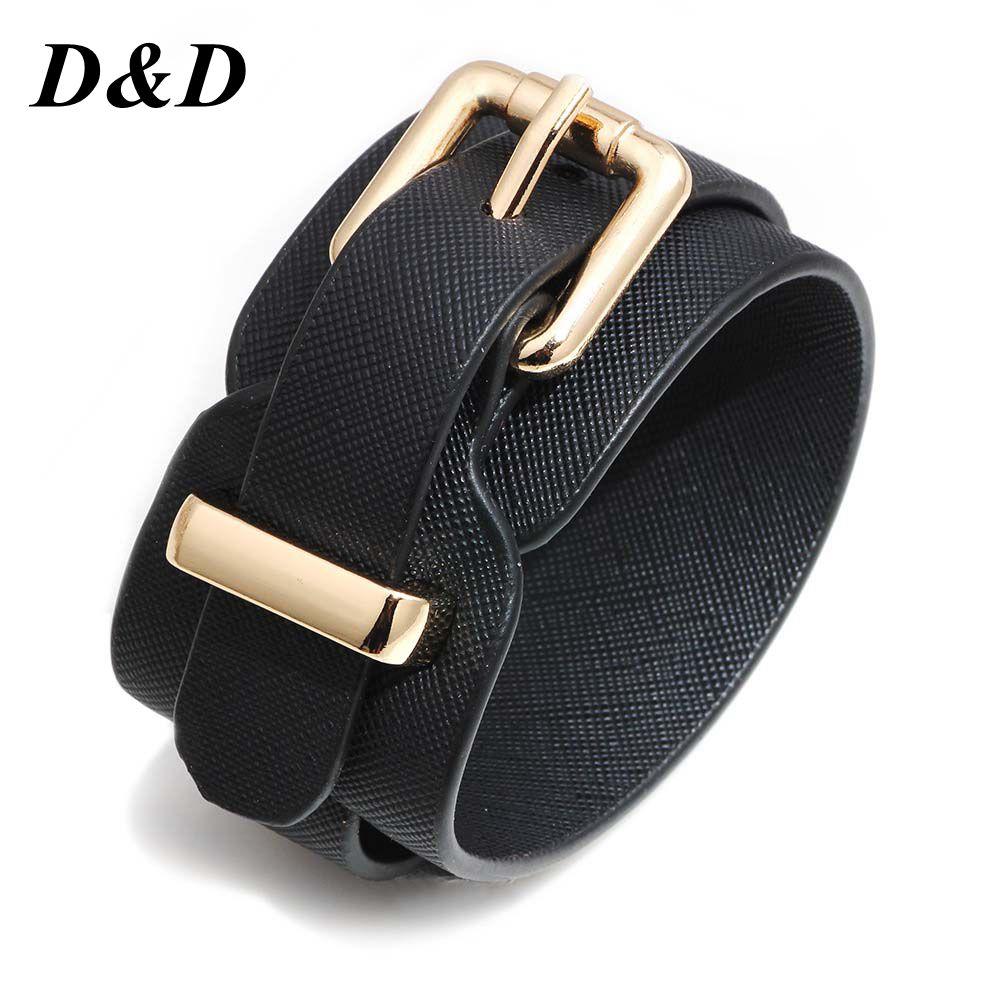 [해외]New Style European And American Fashion Women Pu Leather Bracelet Whole Multi-Color Adjustable Bracelet Female a Genera/New Style Europe