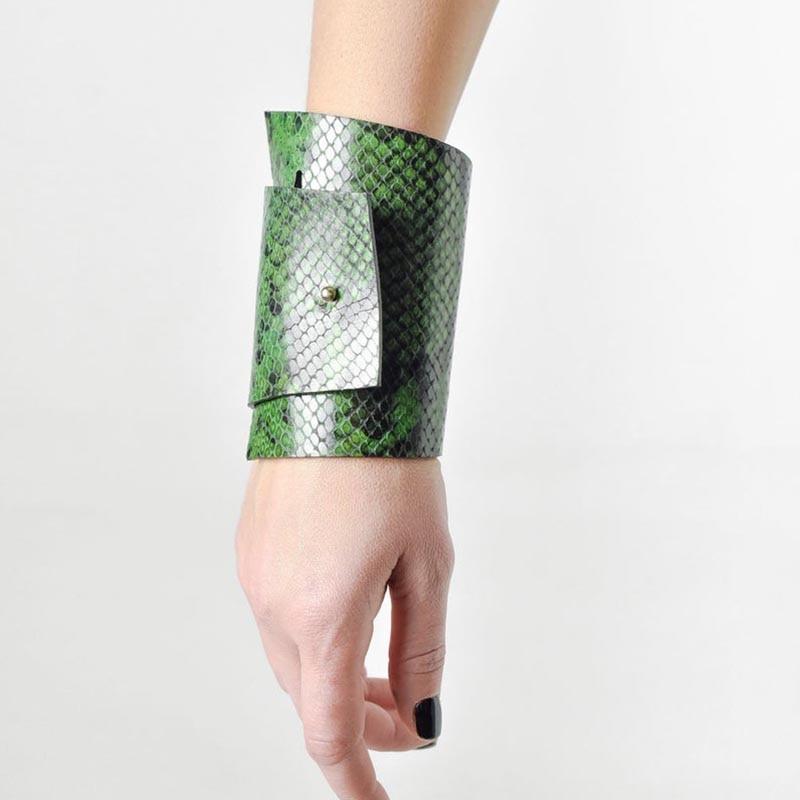 [해외]New Luxury Punk Leather Leopard Charm 3 Color Bracelets & Bangles Leopard Leather Elegant Wrap Wide Bracelet Jewelry/New Luxury Punk Lea