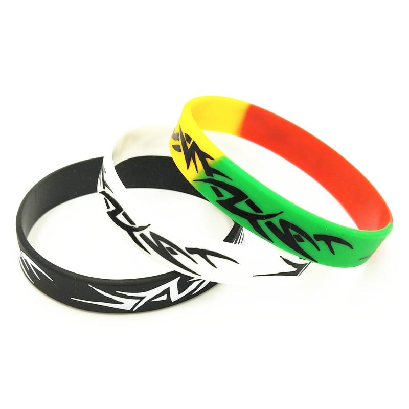 [해외]3PCS 패션 가나 실리콘 팔찌 & Bangles 블랙 화이트 컬러 실크 스크린 성인용 쥬얼리 선물 용품 SH273 실리콘 팔찌/3PCS Fashion Ghana Silicone Bracelet&Bangles Black White Color Sil