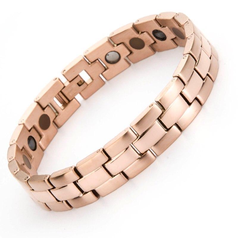 [해외]/38 Health Care Germanium Men`s Power Bracelet Bangles Fashion Titanium Chain Link Charm Hologram Bracelet For Womens Femel