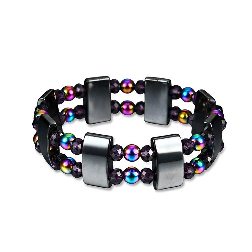 [해외]Dual Layer Multicolor Therapy Health Care Natural Hematite Stone Beads Magnetic Bracelet/Dual Layer Multicolor Therapy Health Care Natural Hematit