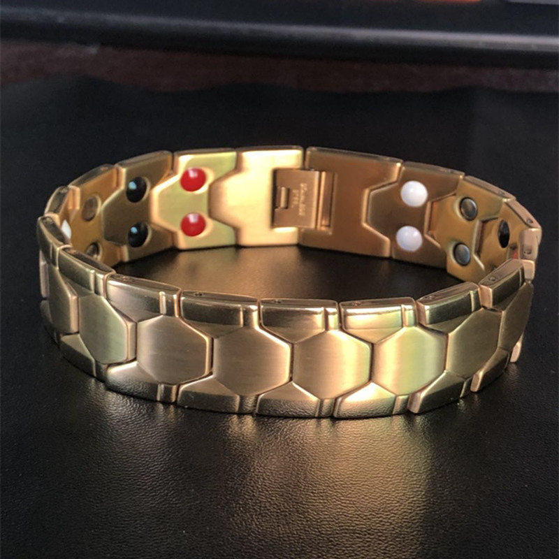 [해외]Good quality titanium steel balance bracelet stainless steel power wristbad magnetic germanium energy bangle best gift/Good quality titanium steel