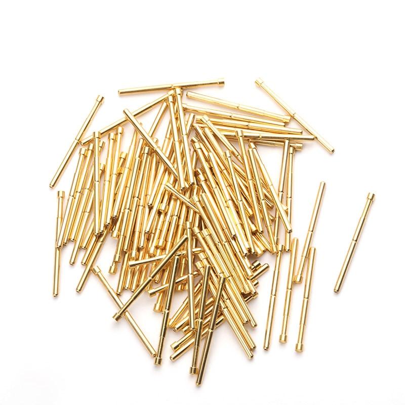 [해외]Pointed Spring Test Probe Spring Total Length 33.35mm Gold Plating For Testing Circuit Board Instrument Tool PA125-A2 100Pcs/Pointed Spr