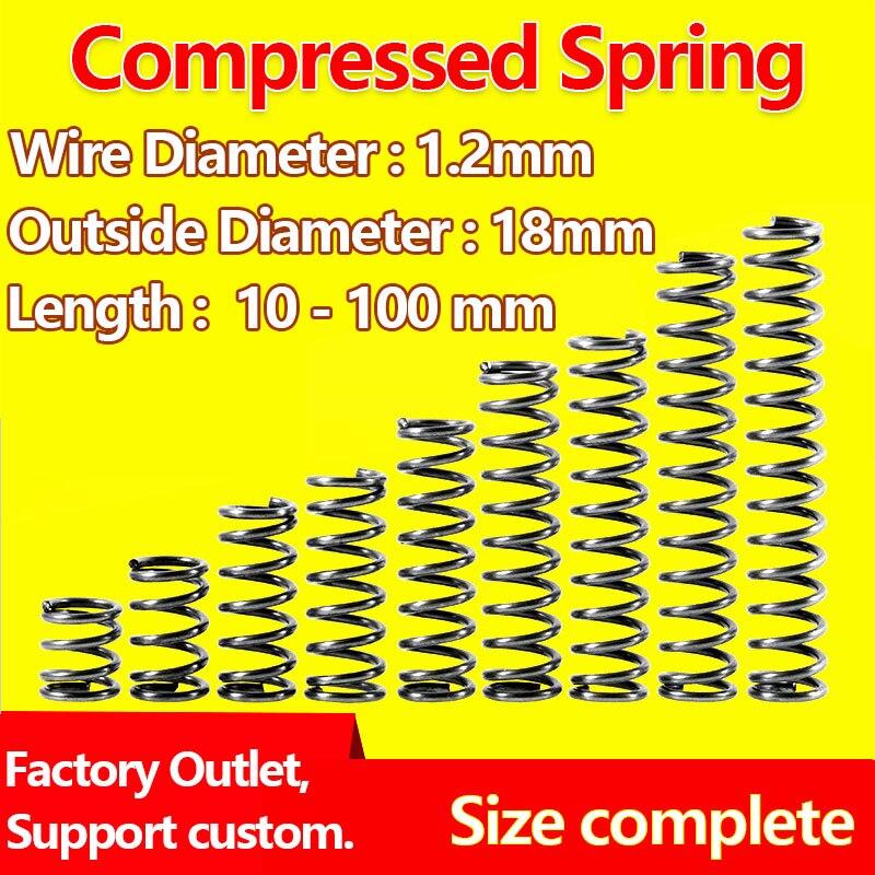 [해외]Pressure Spring Compressed Spring Release Spring Return Spring Wire Diameter 1.2mm, Outer Diameter 18mm Factory Outlet/Pressure Spring C