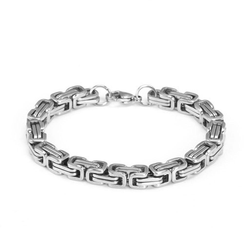 [해외]2016 New Brand Punk Black Titanium Steel Link Chain Wristband Bracelet For Men Jewelry Accessories/2016 New Brand Punk Black Titanium Steel Link C