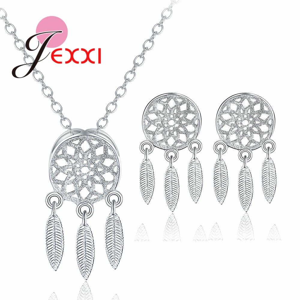 [해외]JEXXI Dreamcatcher Style Fashion 925 Sterling Silver Jewelry Set for Women Necklace Earrings Party Accessories/JEXXI Dreamcatcher Style Fashion 92