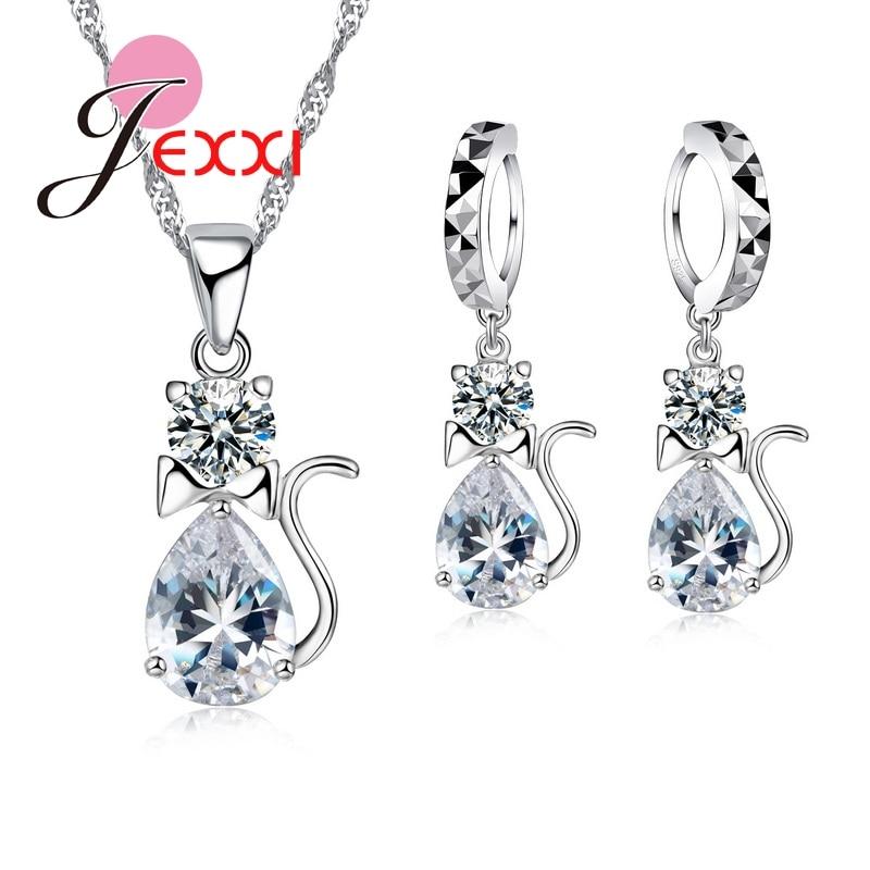 [해외]New Arrival Cat Design Pendant Necklace Earrings Sets S90 Jewerly Sets Anniversary Birthday Best Gifts/New Arrival Cat Design Pendant Necklace Ear