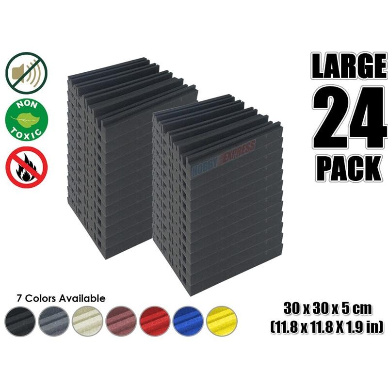[해외]Arrowzoom 24 pieces Metro Diffuser Acoustic Studio Foam Tile Sound Absorption Panel 30 x 30 x 5 cm (11.8 x 11.8 x 1.9 inches)/Arrowzoom