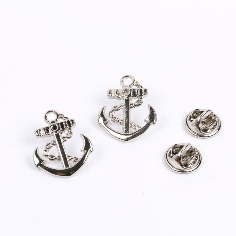 [해외]네이비 스타일 앵커 브로치 옷깃 핀 해적 Symbo 금속 앵커 브로치/Navy Style Anchor Brooch Lapel Pins Pirates Symbo Metal Anchor Brooches