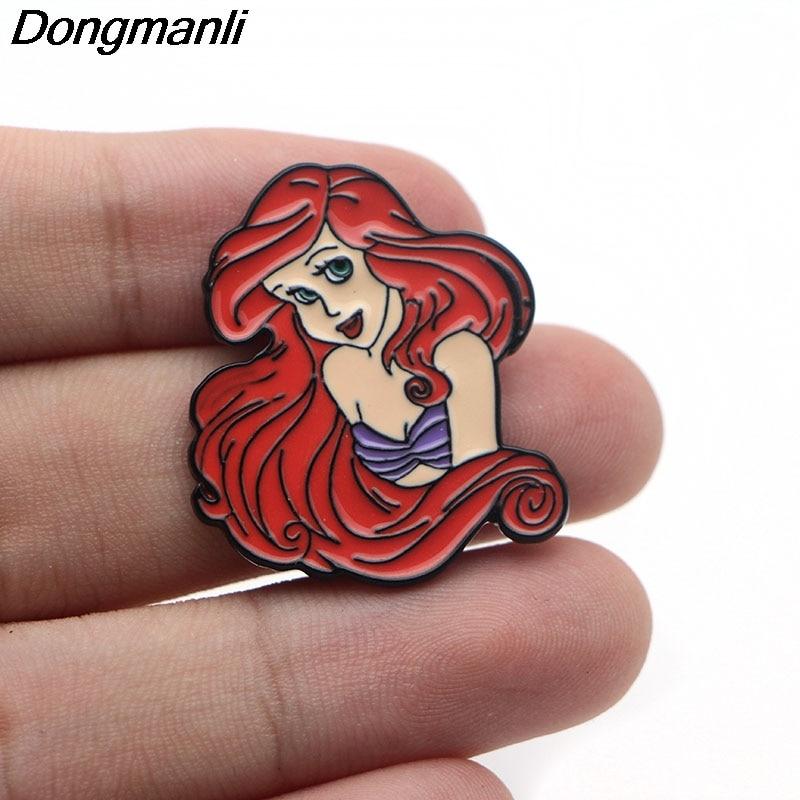 [해외]L3045 머메이드 매력 메탈 에나멜 핀 배낭 / 가방 / 청바지 의류 배지 옷깃 핀 브로치 쥬얼리 1pcs/L3045 Mermaid Charm Metal Enamel Pin for Backpack/Bag/Jeans Clothes Badge lapel pin b