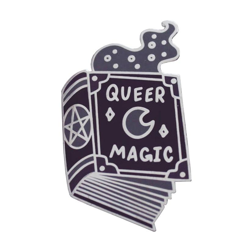 [해외]Queer Magic Book Of Shadows LGBTQ Witch Pride Pin Badge/Queer Magic Book Of Shadows LGBTQ Witch Pride Pin Badge