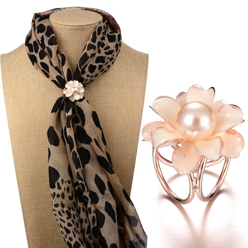 [해외]KINGDENG brooch pin scarf buckle Zinc Alloy Trendy gifts for women 2019 Flower scarf buckle brooch pearl High grade fashion/KINGDENG brooch pin sc