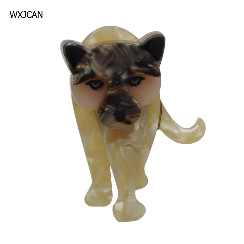 [해외]WXJCAN New 2019 acrylic lion brooch women  Acetate fiber brooch pins Cute tiger brooches men jewelry fashion gift Size 63mm*43mm/WXJCAN New 2019 a
