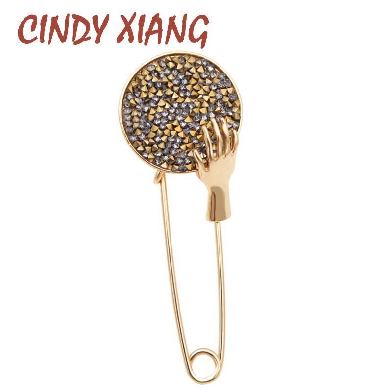 [해외]CINDY XIANG Brooches For Women Abstract Simple Pins For Man Crafts Gifts For Family Jewelry Birthday Party Accessories 2018/CINDY XIANG Brooches F