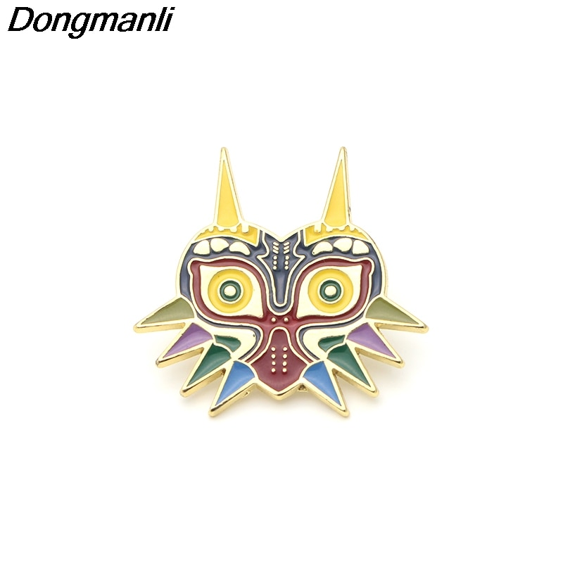 [해외]P2655 Dongmanli The Legend of Zelda owl Metal enamel collar pin lapel badge Jewelry brooch game player gifts Accessories/P2655 Dongmanli The Legen