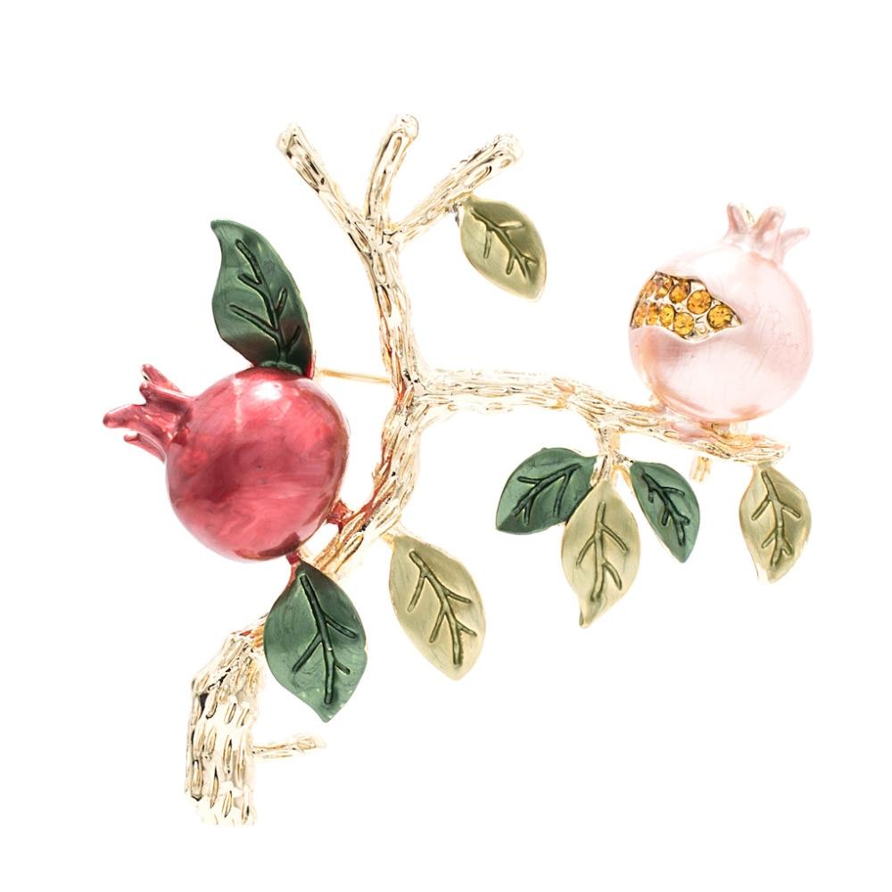 [해외]Fashion Rhinestone Crystal Red Enamel Pomegranate Brooch Broach Pin  Woman Jewelry HB061/Fashion Rhinestone Crystal Red Enamel Pomegranate Brooch