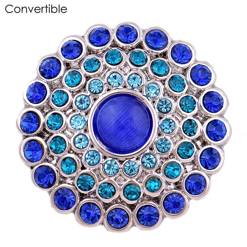 [해외]Rivca Colorful Flower inserts convertible magnet brooch antique Scarf Cloth Clip Vintage Muslim magnetic pin accessory  Brooch/Rivca Colorful Flow