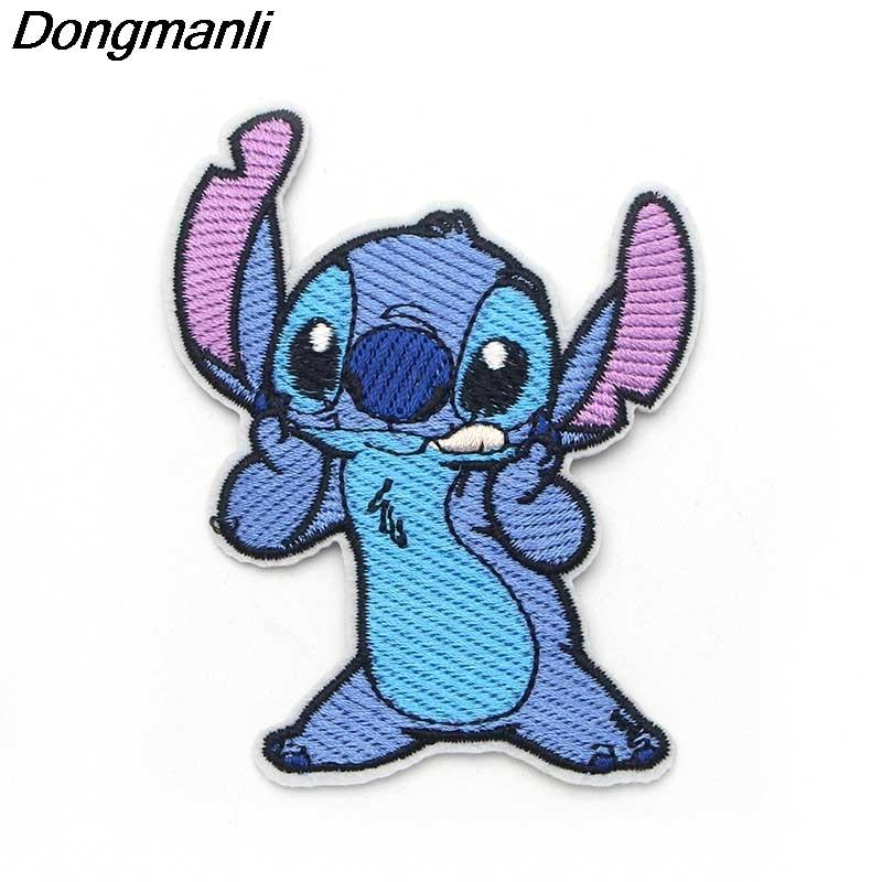 [해외]P2225 Dongmanli Stitch Embroidered  Sewing patches Iron On Badge Series costume diy badge Patchwork/P2225 Dongmanli Stitch Embroidered  Sewing pat