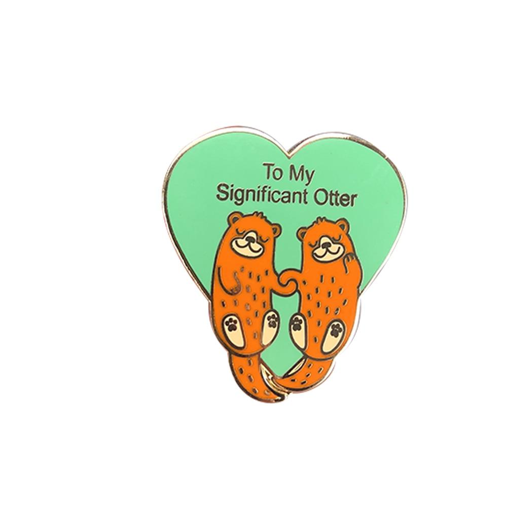 [해외]To My Significant Otter Pin Valentines day Brooch funny i love you boyfriend husband for girlfriend anniversary gift for her/To My Significant Ott