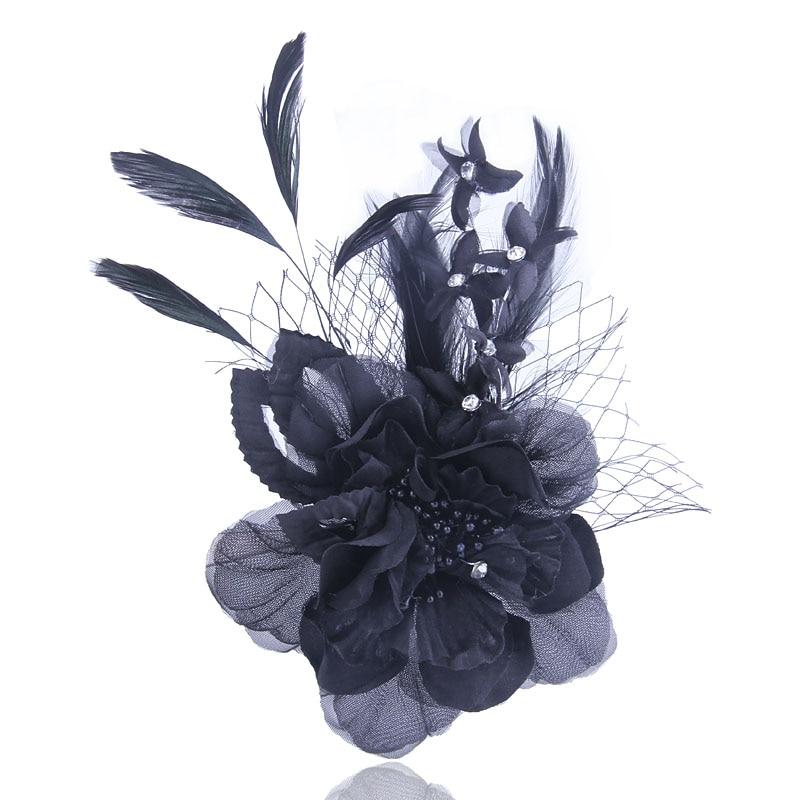 [해외]Classic Women brooch High quality Fabric pins Flower brooches Elegant hair accessories Hat Flower For lady Party Show Decoration/Classic Women bro