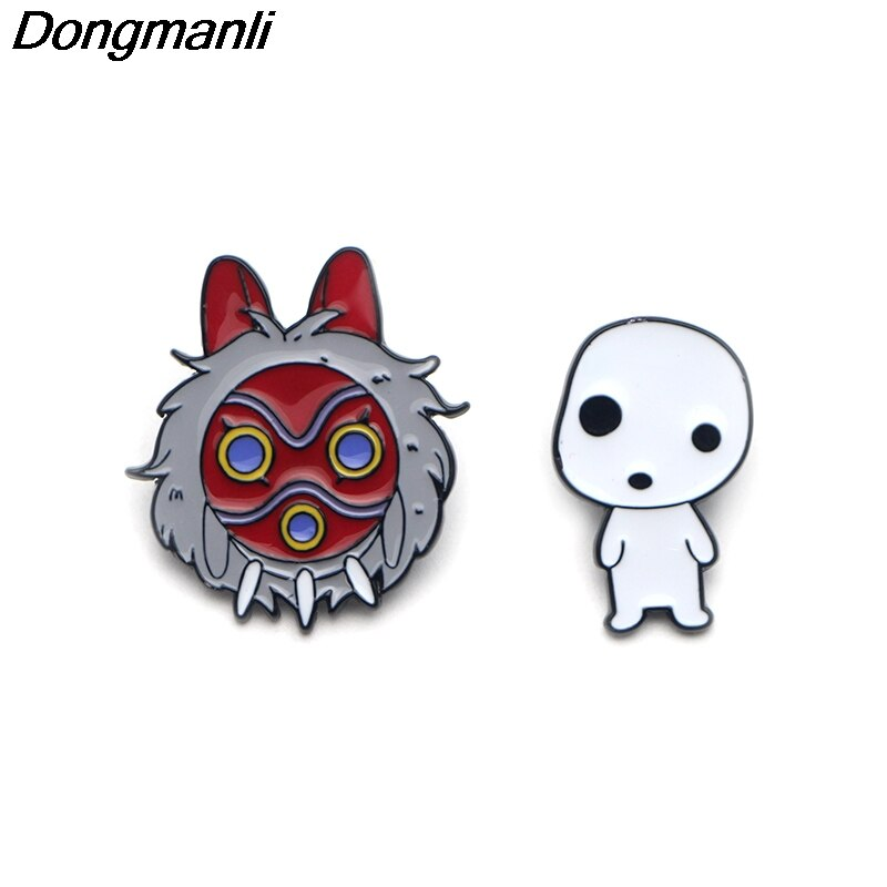 [해외]P3169 Dongmanli Mononoke Hime Mask Metal Enamel Pins and Brooches for Women Men Lapel Pin Bags Badge Cool Gifts/P3169 Dongmanli Mononoke Hime Mask