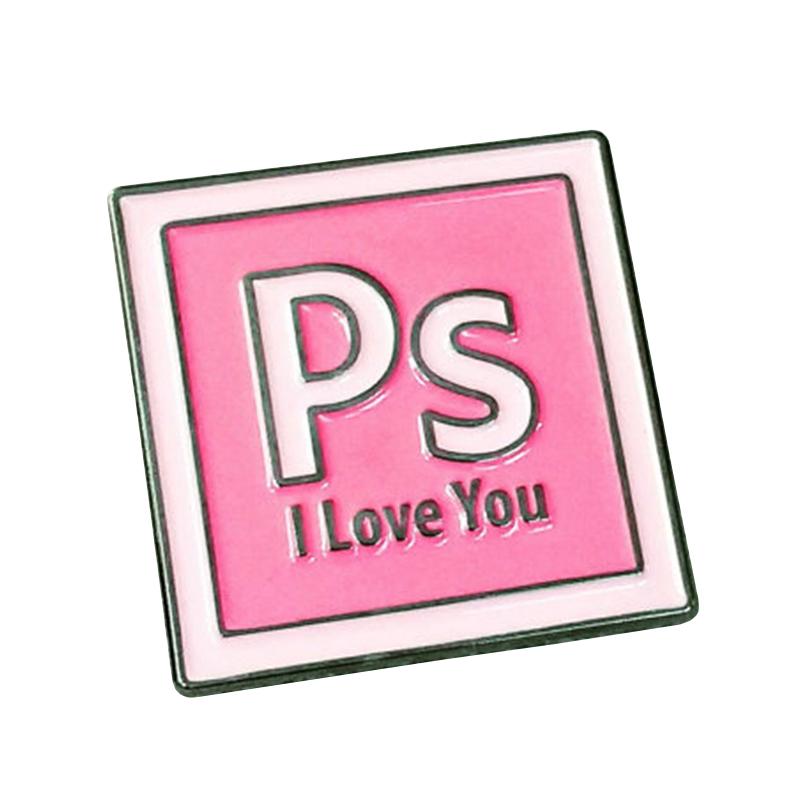 [해외]Ps iloveyou 에나멜 핀/Ps iloveyou 에나멜 핀
