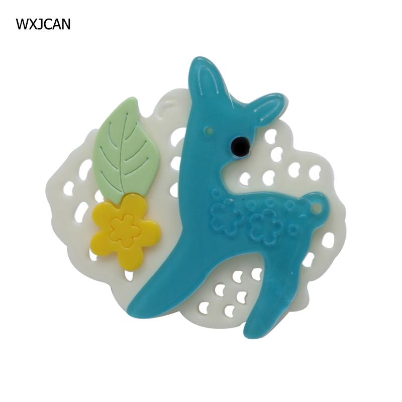 [해외]WXJCAN fairy tale sika deer acrylic brooch pins Cartoon badge brooch jewelry fashion Size 60mm*53mm/WXJCAN fairy tale sika deer acrylic brooch pin