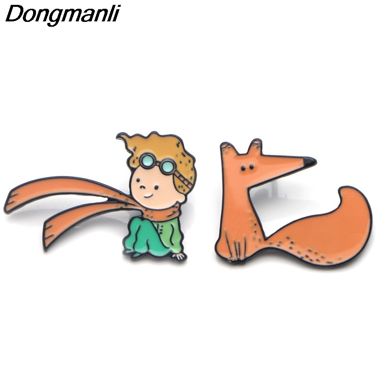 [해외]P3674 Dongmanli Le Petit Prince and Fox Cute Metal Enamel Pins and Brooches for Lapel Pin Backpack Bags Badge Cool Gifts/P3674 Dongmanli