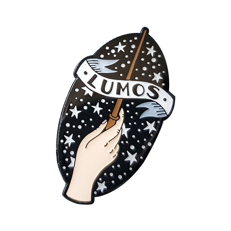 [해외]Lumos spells brooch magic wand pin charm witchcraft hand badge fans collection/Lumos spells brooch magic wand pin charm witchcraft hand