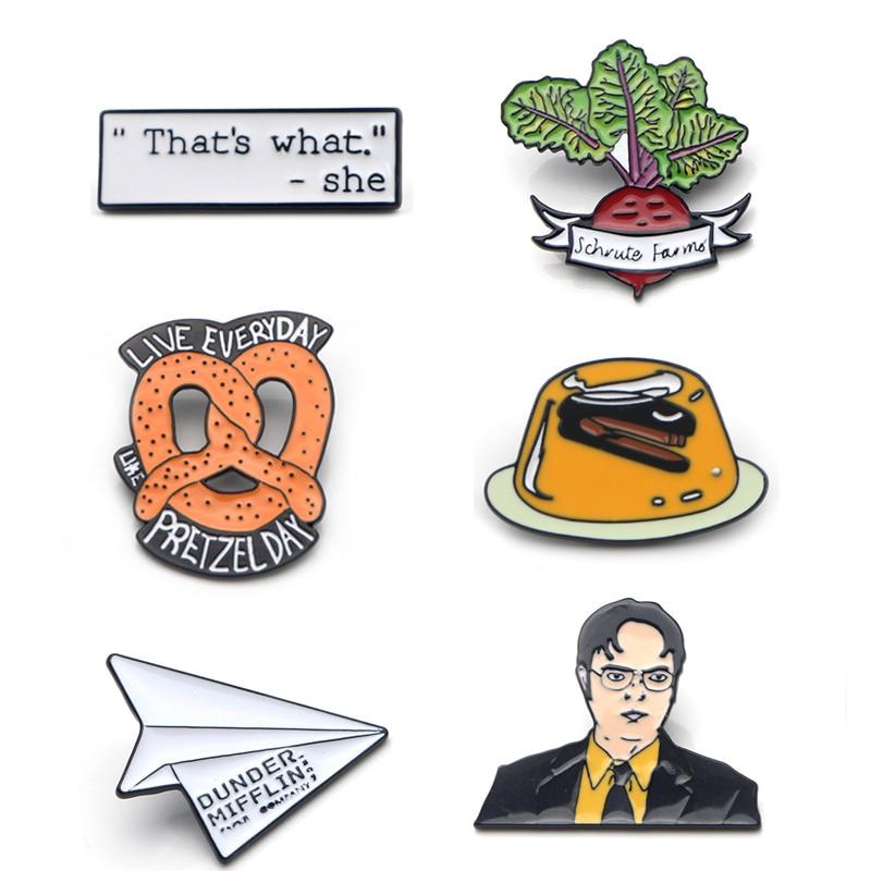[해외]K437 Hot TV Office Art Funny Enamel Pins and Brooches for Women Men Lapel pin backpack bags badge Collection Gifts 1PCS/K437 Hot TV Offi